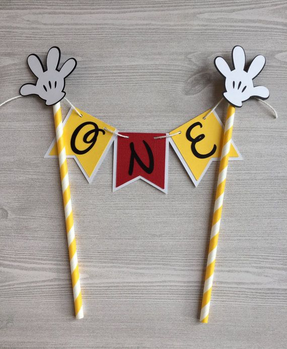 Mickey Mouse Cake Topper Mickey  Mouse Party by PhasesOfLove