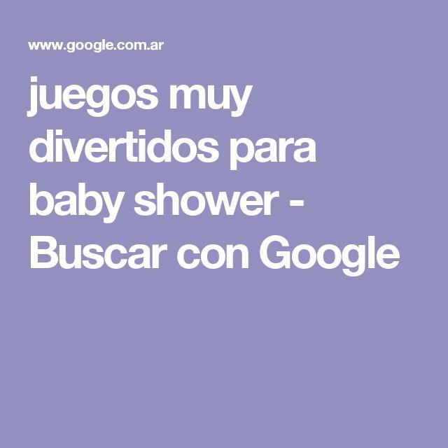 juegos muy divertidos para baby shower - Buscar con Google
