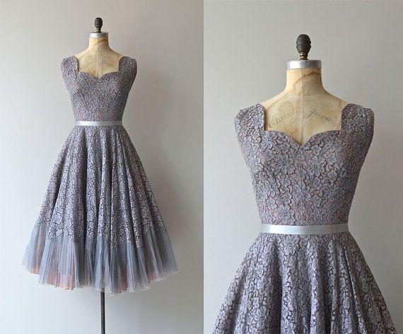 Gray vintage lace dresses