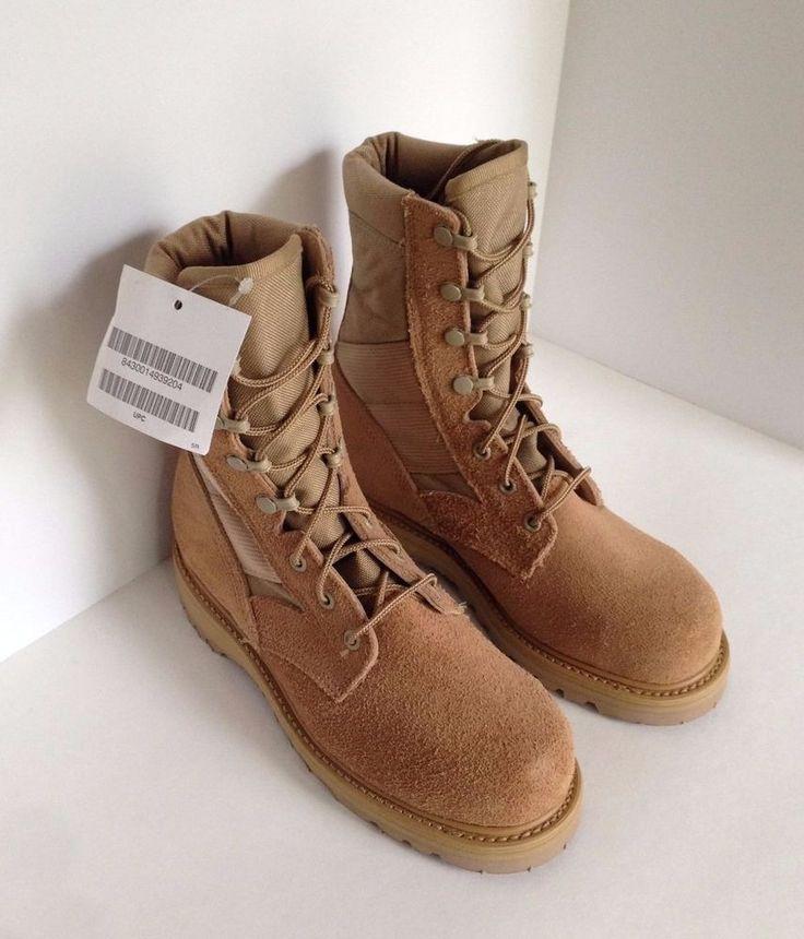 Thorogood Military Style Desert Combat Boots Tan Men's Size 5R 8430 Steel Toe #Thorogood #Military
