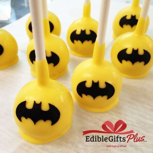 Batman Cake Pops - Chocolate Pops - Birthday Favors, Baby Shower and Just Because Gifts