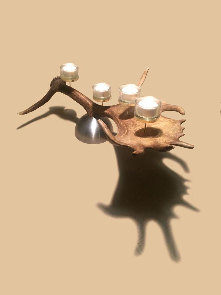 www.oh-my-deer.com #geweih #antler #hirsch #deer #kunst #art #candle #kerze #light #handwerk #omd #OH_MY_DEER #kunsthandwerk #individuell #unique #einzigartig #handarbeit #rustikal #stilvoll #Adventkranz