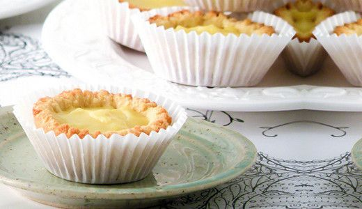 mini lemon pie's in coconut pie crust