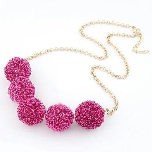 Fashion#design#accessories#beauty#fuchsia#necklace
