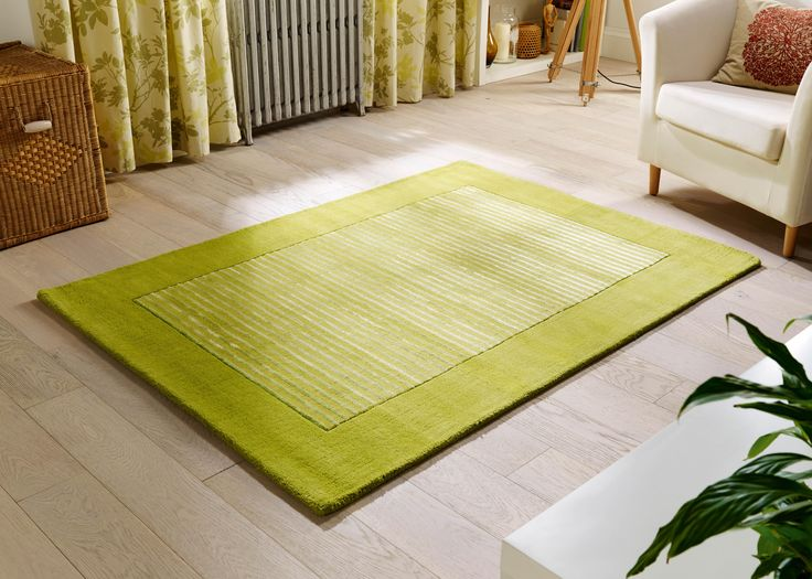 Sophistication to a whole new level... Impressive Henley Green bordered luxury rug. #woolrugs #luxuryrugs #modernrugs #largerugs #greenrugs #viscoserugs