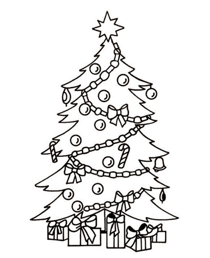 Geography Blog: Christmas Tree Coloring Pages
