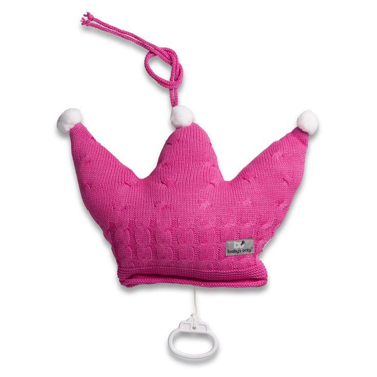 Baby's Only muziekdoos kroon kabel uni fuchsia uit de online shop van Babyaccessoires.eu. In allerlei kleuren.