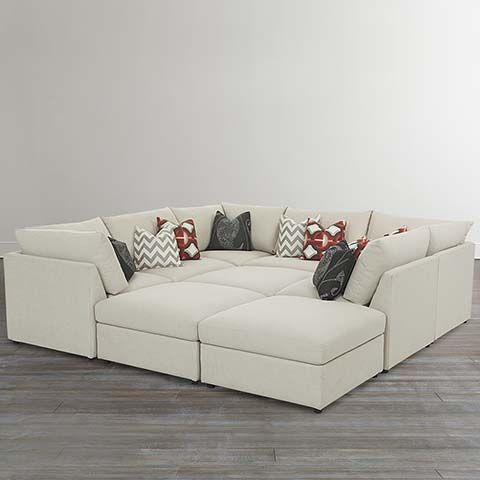Love this giant cozy couch!! Pit Sectional -Bassett Furniture