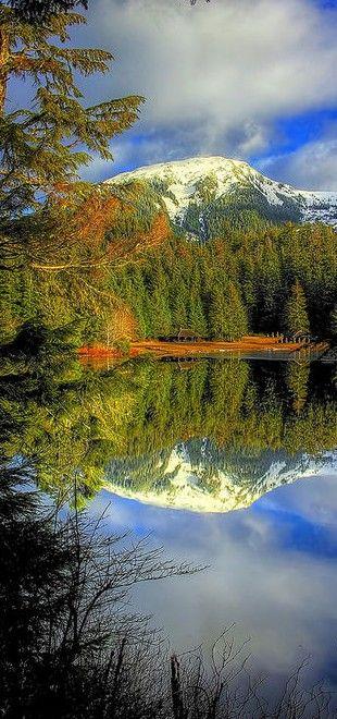 Ward Lake in Ward Cove, Ketchikan, Alaska. Wilderness Campsites.