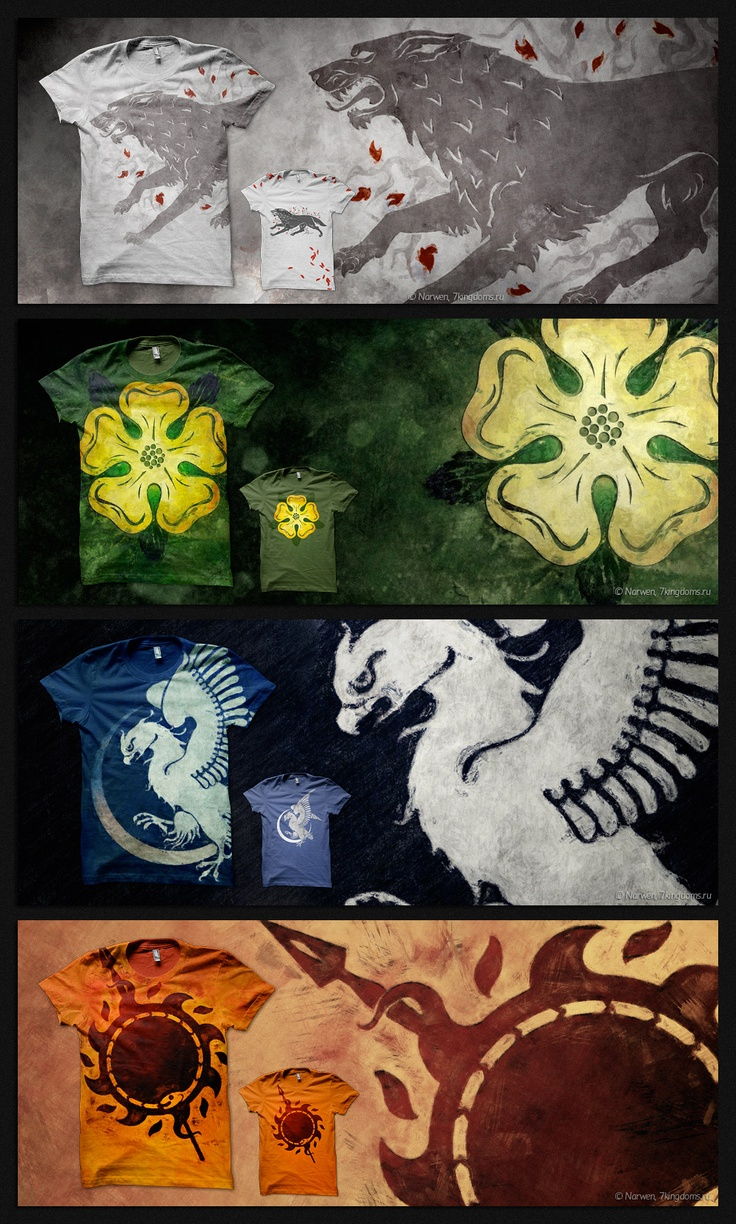 T shirt design 2 zeixs - Game Of Thrones T Shirt Design Part 2 By 7narwen