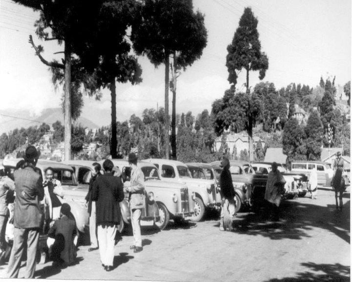 Those were the days. Old Taxi Stand in Darjeeling