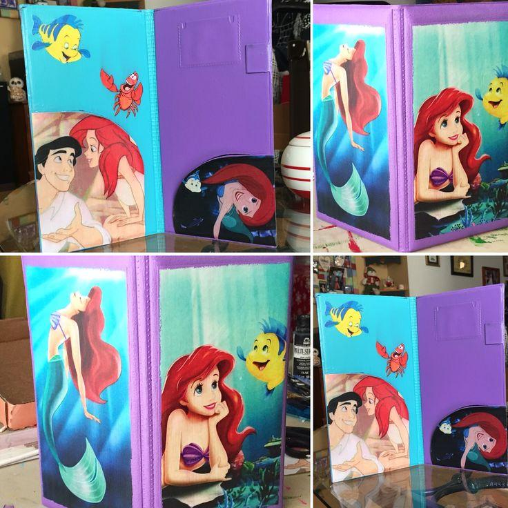 The little mermaid server book from Server Book Art. Facebook and Instagram. #littlemermaid #arielserverbook #mermaid