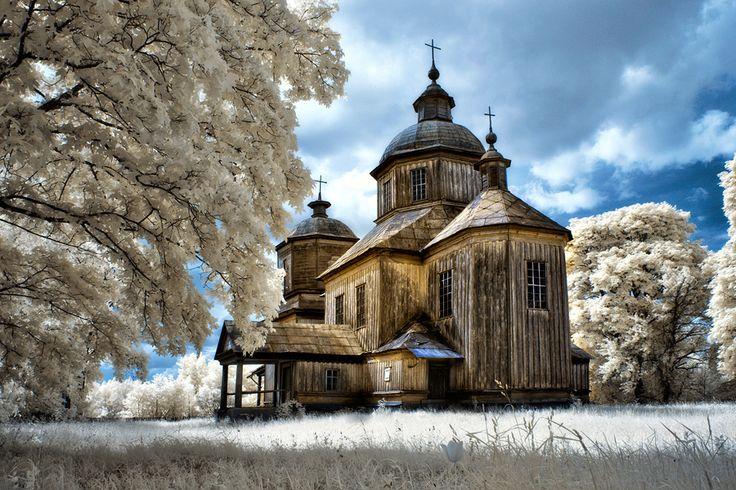 старые церкви черниговщины.... инфракрасная съемка Автор: Марк