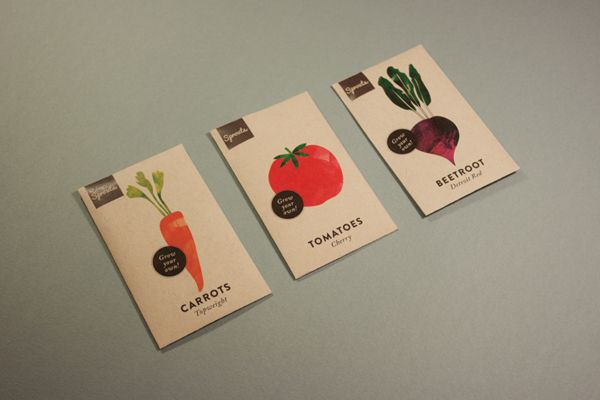 Sprouts Garden Campaign by Kenya Carroll, via Behance