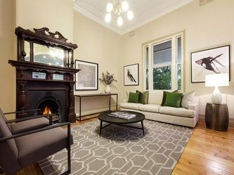 GALLERY - THE REAL ESTATE STYLIST Love the rug!