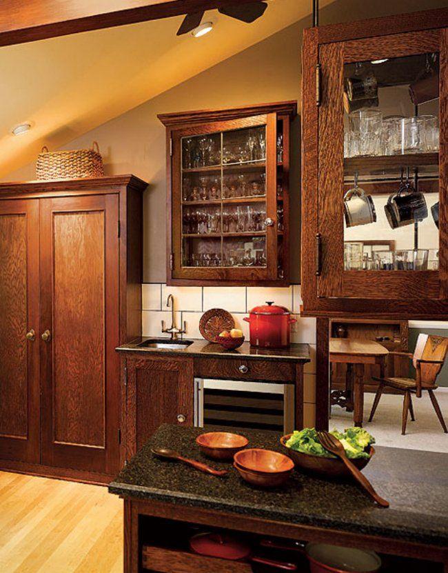 Mission Kitchens · Brown CabinetsGlass CabinetsKitchen Cabinet DoorsKitchen  CabinetsKitchen DiningKitchen HardwareCraftsman Style ...