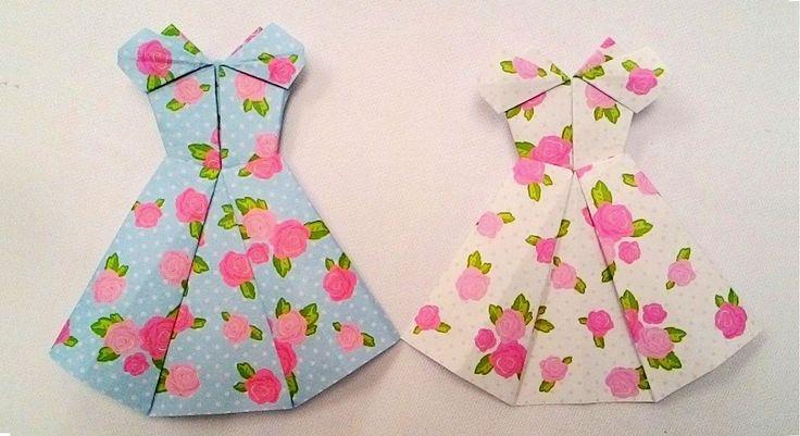 Origami cocktail dress...พับกระดาษ ชุดค็อกเทล...