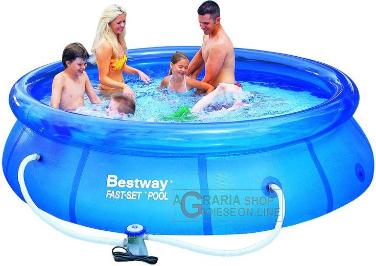 BESTWAY PISCINA AUTOPORTANTE TONDA CM. 305x76h CON POMPA FILTRO MOD.57109 https://www.chiaradecaria.it/it/piscine-autoportanti/1619-bestway-piscina-autoportante-tonda-cm-305x76h-con-pompa-filtro-mod57109-6942138900842.html