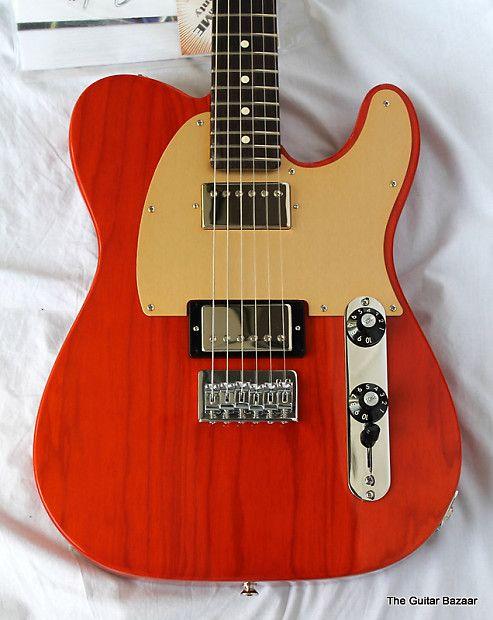 Fender FSR Blacktop Ash Telecaster Transparent Sunset Orange | Reverb
