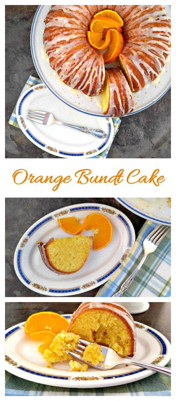 This orange bundt cake has a fresh citrus taste and a creamy orange glaze.