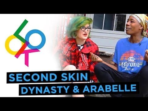 "Thoroughly enjoying StyleLikeU's ""Second Skin"" series of trading-clothes-for-the-day: Dynasty Ogun & Arabelle Sicardi  / ""A radical Comme Goth & a super chill tomboy trade clothes"""