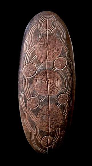 Churinga. It was believed that the ancestors of the Dreamtime and their weapons had become these sacred discs.They represent each person's immortal spirit, while the design is a totemic pattern of the associated sacred site.