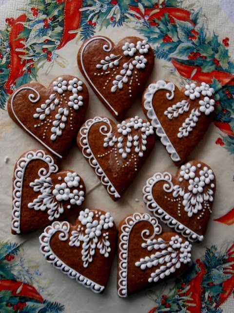 Gingerbread cookies..I love the details