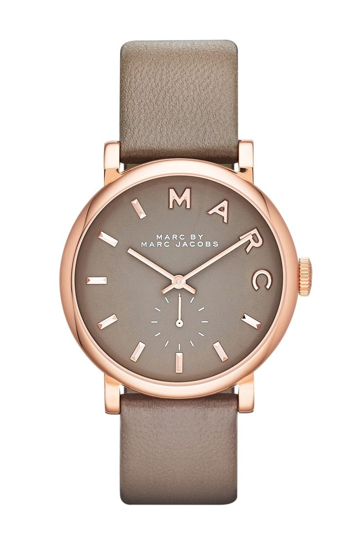 Could wear this polished rose gold and grey Marc Jacobs watch every day.