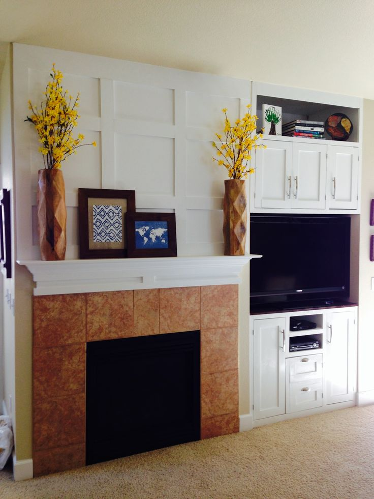 Ana White | Tall TV Cabinet Built-in and Fireplace Board and Batten - DIY Projects
