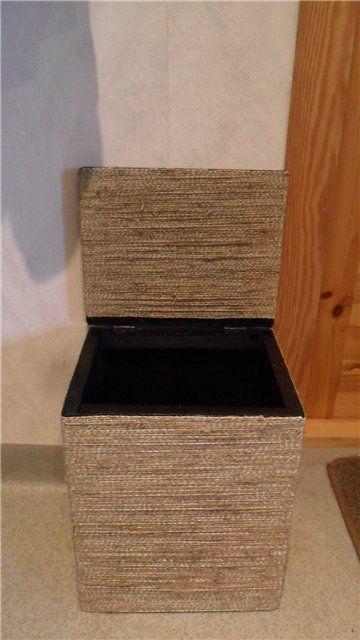 Чудесное преображение из старого ящика в стильный пуфик - Ярмарка Мастеров - ручная работа, handmade
