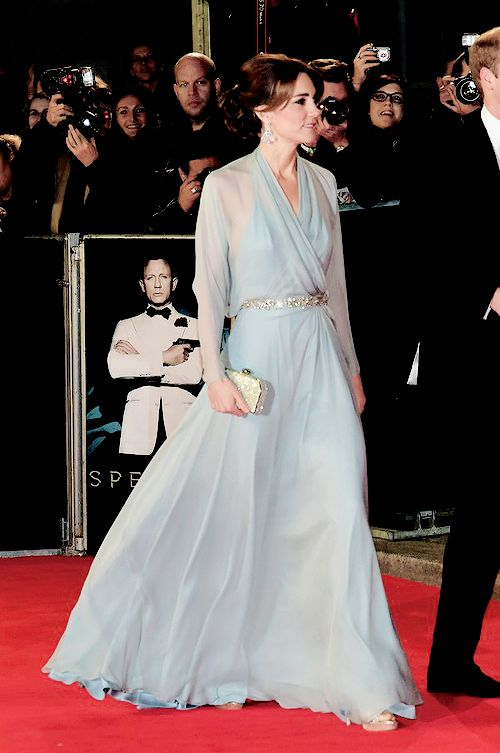 The Duchess of Cambridge at the Spectre premiere