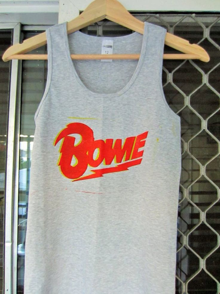 Two-toned BOWIE shirt by CurlySuePrints on Etsy https://www.etsy.com/listing/199075550/two-toned-bowie-shirt