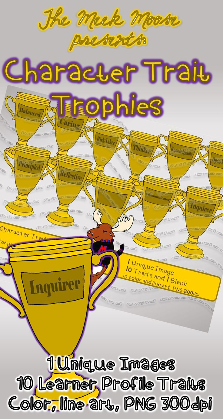 #clipart #ibpyp #learnerprofile #award #trophy #free #freebie Great for awards using the ten learner profiles.