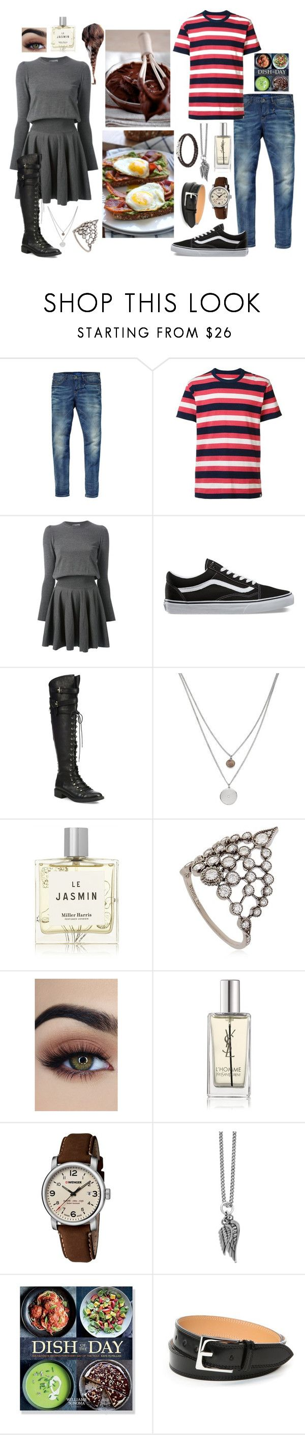 """Eden: Foodies"" by dottieonthemoon ❤ liked on Polyvore featuring Scotch & Soda, Visvim, Alexander McQueen, Vans, Joie, Kenneth Cole, Miller Harris, Stone Paris, Yves Saint Laurent and Wenger"
