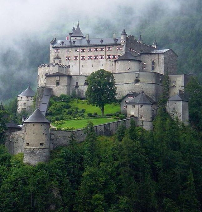 Hohenwerfen Castle (German: Burg Hohenwerfen) stands high above the Austrian town of Werfen in the Salzach valley, approximately 40 km (25 mi) south of Salzburg. The castle is surrounded by the Berchtesgaden Alps and the adjacent Tennengebirge mountain range.