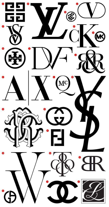 Top Fashion Logos Monogram logo, Diseño de logotipos y