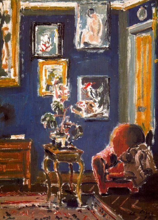 interior -  Filippo de Pisis  1896-1956  Italian painter-poet