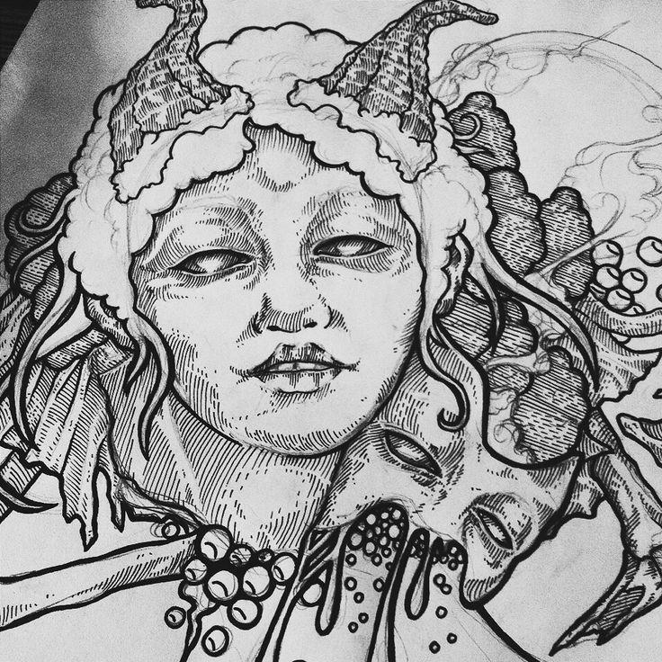 Black ink #drawing #art