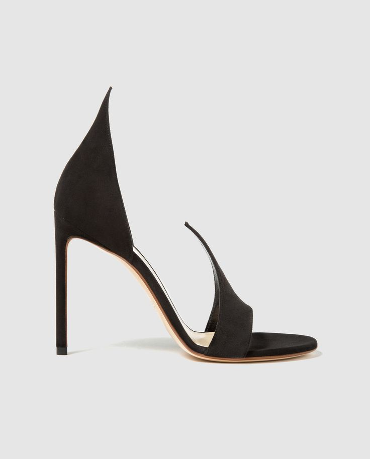 Sandalias de tacón de mujer Francesco Russo de ante negro · Francesco Russo · Moda · El Corte Inglés