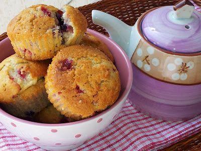 Mensola e Conserve: Muffin lamponi e cioccolato bianco