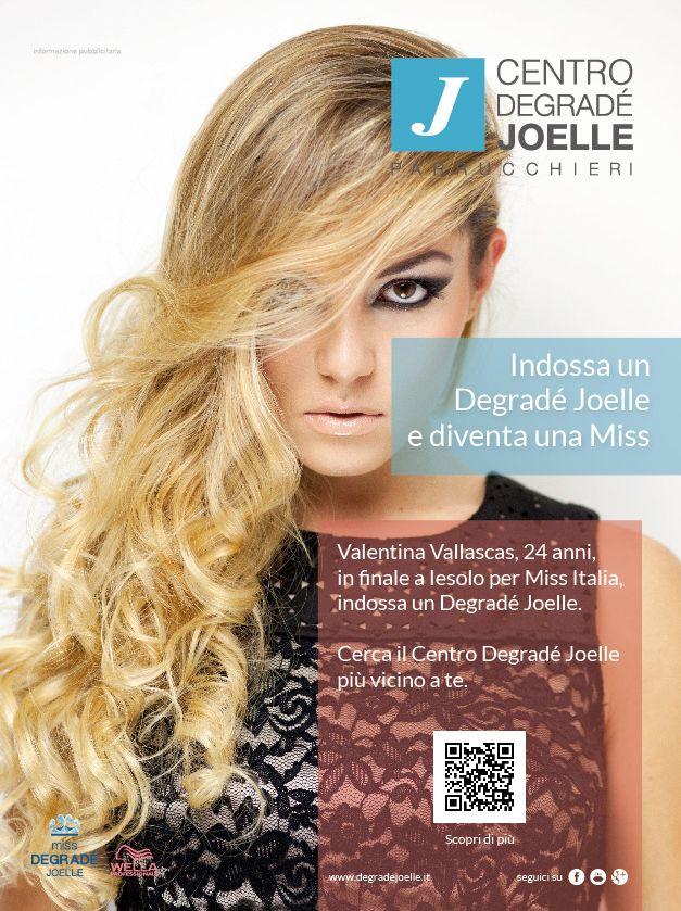 CDJ per Amica 2014  Valentina Vallascas, Miss Sardegna a Miss Italia 2014, indossa il Degradé Joelle.  #cdj #degradejoelle #original #rivista