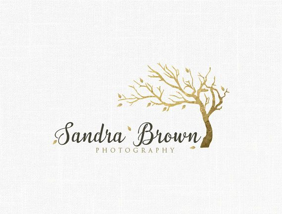 Photography Logo Design Tree Logo Gold Logo by MaggieArtStudio