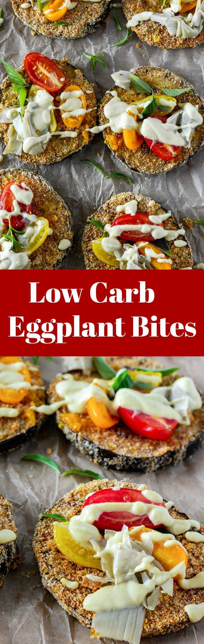 Low Carb Eggplant Bites