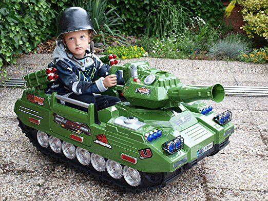 Panzer mit Radio und MP3 Anschluss Kinderauto Kinderelektroauto Kinderelektrofahrzeug Kinder elektroauto Panzer Tank Fernmeldepanzer mit RC Bundeswehr Army