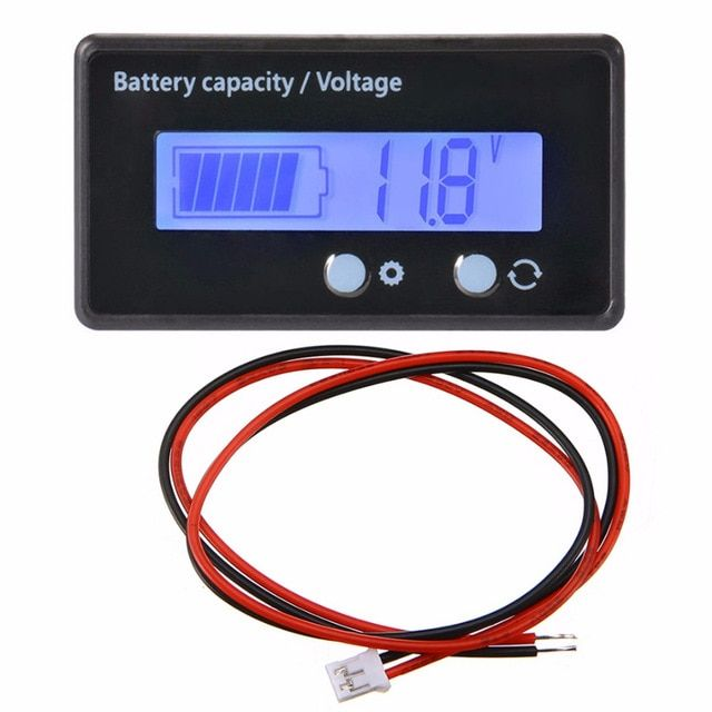 Color LCD Battery Capacity Voltage Temperature Monitor Tester Monitor 12V  /_CH