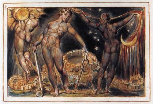 Los (1804-1820) by English artist William Blake (1757-1827). This etching is now at the Yale Center for British Art.