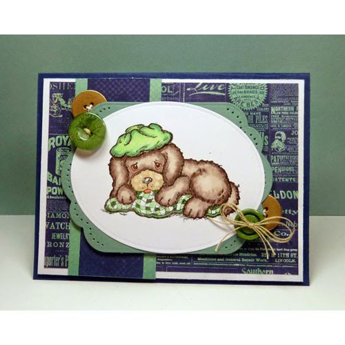 Serendipity Stamps Sick Puppy Cling Stamp Set-Flash Sale! 20% Off until June 4th!