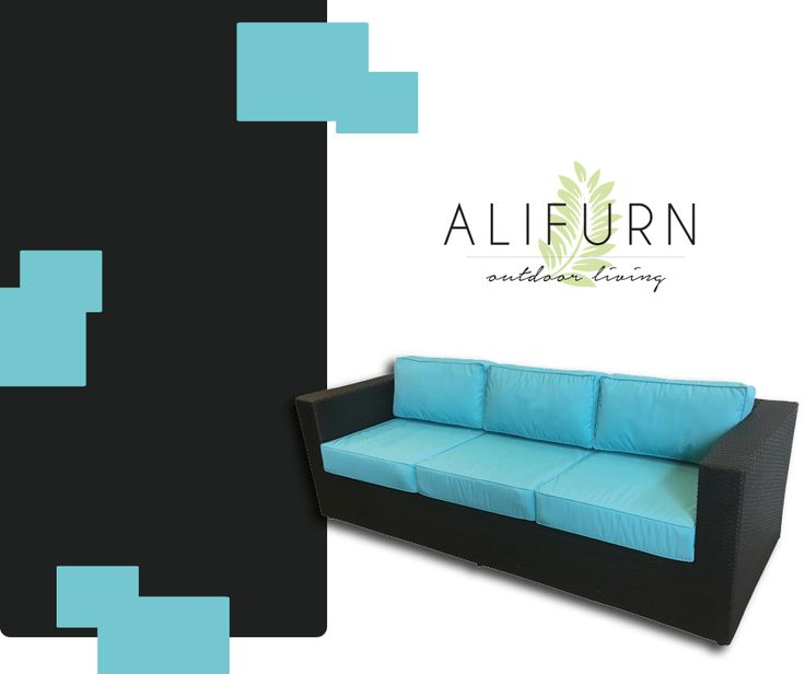 Love lazing about in the late-afternoon sun? You'll need a patio sofa! #OutdoorFurniture #PimpMyPatio