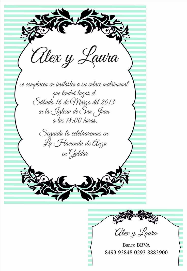 Se realizan diseños exclusivos de tarjetas de boda. Informate en: idairaartiles@gmail.com