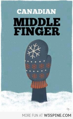 Canadian Middle Finger